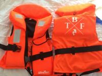 2 x Toddler Life Jackets. Perfect for holiday sailing and going in the sea!