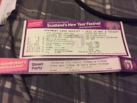 2 tickets for 31.12.16 Edinburgh Hogmanay Street Party paid £25 per ticket selling both for £40