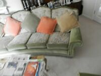 four seater settee plus two armchairs/ perfect
