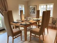 Solid Ash Dining Table and 6 Chairs