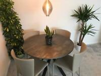 IKEA TABLE AND JOHN LEWIS CHAIRS