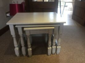 White Shabby Chic Nest of Tables