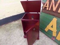 Dark Wood Storage or Drinks Cabinet Shabby Chic Project Delivery Available