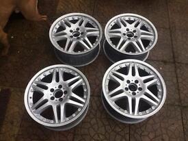 "4x 18"" alloy wheels 5stud pattern just been refurbished"