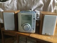 Hitachi micro component system with speakers, parts only