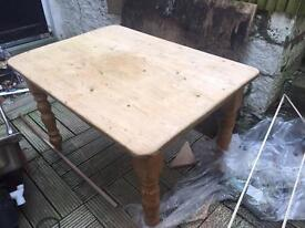 Wooden farmhouse table - Pickup only - £35