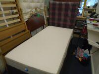 SINGLE DIVAN BED at Haven Trust's charity shop