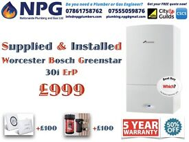 Worcester Bosch Greenstar 30i ErP Model*HALF-PRICE SALE*50% OFF SUPPLY & INSTALL*£999* (RRP 2.5K) *