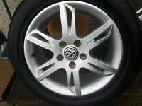"16"" Alloy wheels 5x112 with tyres."