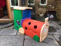 Toddlers play train
