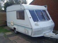 1995 2 berth marauder caravan with large porch awning