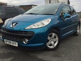 2008 (08 ) PEUGEOT 207 SPORT 1.4 PETROL 3 DOORS BLUE * 100% HPi CLEAR * FINANCE AVAILABLE *
