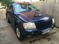 Jeep Grand Cherokee Limited 4.7 V8 Petrol & LPG Blue