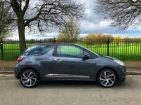 2015 65 reg Citroen ds3 1.2 PETROL - ONLY 1,700 MILES -top spec /satnav / park sensors / £20 tax