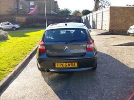 LOOK BARGAIN RARE MODEL BMW 120I MANUAL 6 SPEED SE GREY PETROL 2005 3 LADY OWNERS ONLY F.S.H LOOK