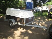 7-0 X 4-0 GALVANISED (750KG UNBRAKED) DROPTAIL GOODS TRAILER WITH LOCKING HARD-TOP......