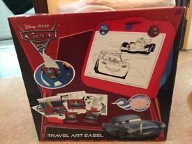 Cars Travel art easel set