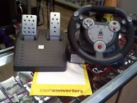 GAMSTER STEERING WHEEL AND PEDALS FOR PS1