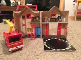 Fireman Sam Engine & Firestation