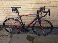 As new 2014 Specialized Allez Race Road Bike - Carbon forks, shimano 105, frame 58cm weight 8.7kg