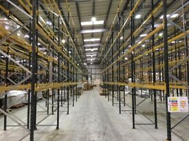 job lot 85 bays of link pallet racking AS NEW( storage , shelving )