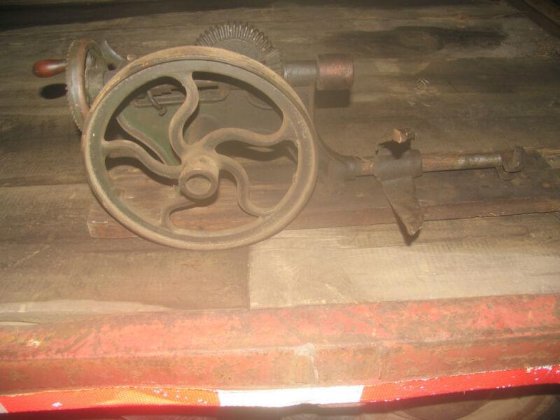 Old Vintage Antique  Post Drill
