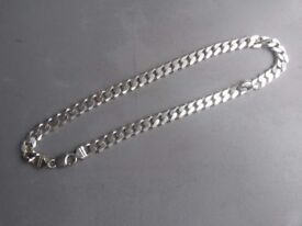 silver curb chain 925 good weight to it 50 grams plus