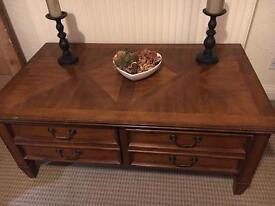Solid coffee table / console table