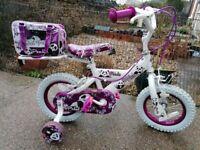 "Panda pets bike 12"" wheels includes panda bear Excellent condition"