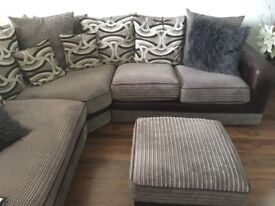 Corner Sofa with footstool and love seat