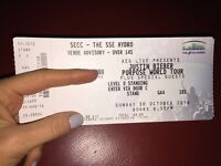 *Offers Accepted* 1x STANDING Justin Bieber: Purpose World Tour - Glasgow 30 October 2016