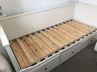 Ikea Hemnes Day/guest bed with 3 drawer storage