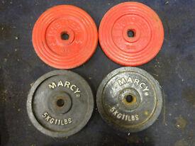 wieght plates 2x marcy 2x weilder