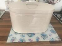 Cream shabby chic bread bin