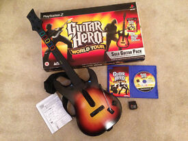 Sony PlayStation 2 Guitar Hero World Tour with box inc game & wireless guitar controller - Didsbury