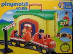 Playmobil 123 n 6783 la gare transportable avec son train geant superb neuf - Playmobil geant a vendre ...