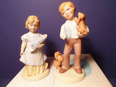 Avon Best Friends Boy and Mothers Love Girl Figurines