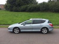 PEUGEOT 407 2.0 HDI ESTATE AUTO BLUE PAN ROOF PX WELCOME