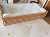 Child's oak Aspace bed with pullout bed