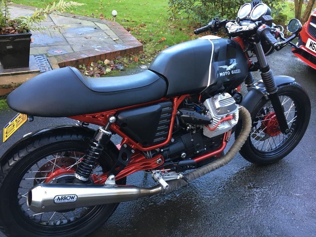 cafe racer moto guzzi v7 in long ashton bristol gumtree. Black Bedroom Furniture Sets. Home Design Ideas