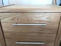 Cargo solid ash bedside table