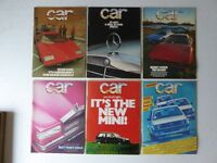 Vintage editions of CAR Magazine. 6 issues from 1978.