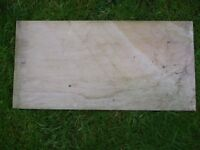 20 of 29 cm x 60 cm square polished stone slabs - that were bought but not needed - PRISTINE