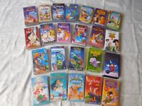 23 DISNEY VHS VIDEOS PLUS 12 VARIOUS VIDEOS