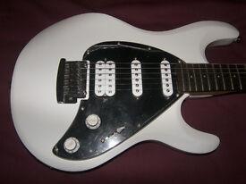 Sterling by Music Man , MusicMan S.U.B. SL-Silo 3 Electric Guitar + Gig Bag. / White. / Brand New !