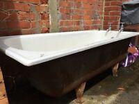 Free cast iron bath
