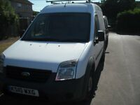 FORD TRANSIT CONNECT 2010 DIESEL SEMI HIGH ROOF ROOF RACK MOT END JUN 19