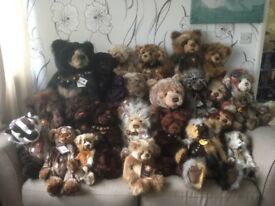 Charlie Bears Huge Bundle Retired Leonard Captain Snuggleton Bray Rula Jumbo Year 2015