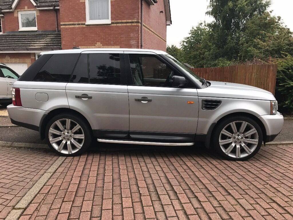 range rover sport 2006 tdv6 hse a metallic silver 2 7 auto cream leather interior sat nav. Black Bedroom Furniture Sets. Home Design Ideas
