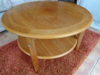Solid wood inlaid coffee table